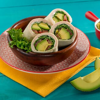 Wraps with avocado