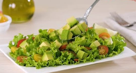 Diced Avocados on a salad