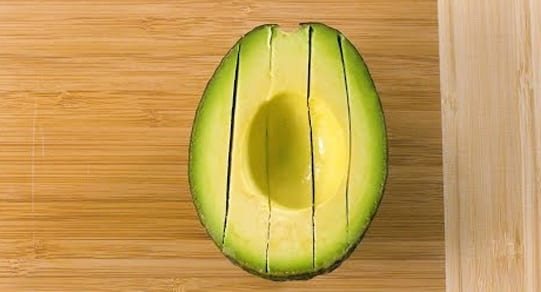 Sliced Avocado half