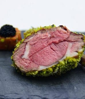 Frenched Rack of Lamb with Avocado