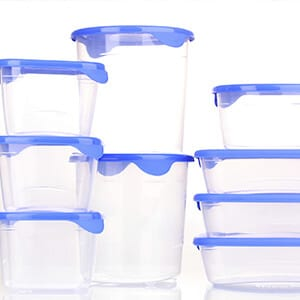A clear container in sunlight