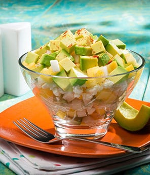 Morelia Style Gazpacho Fruit Salad with Avocado