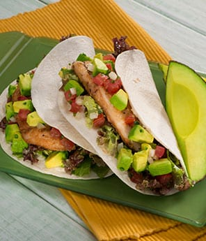 Grilled fish tacos with avocado pico de gallo avocados for Sides for fish tacos