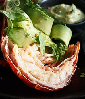 Lobster Salpicon With Shaved Avocado