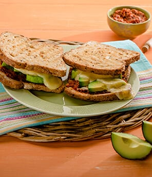 Harissa and Avocado Grilled Cheese