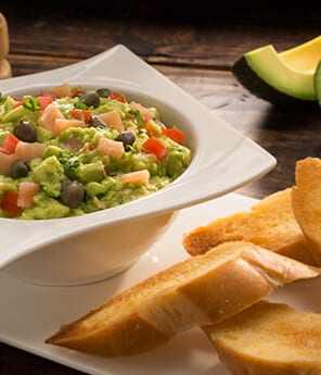 Guacamole with Salmon