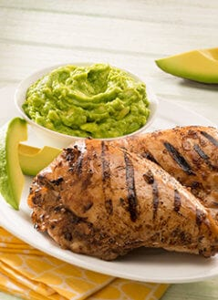 Grilled Chicken in Chile Serrano and Avocado Sauce