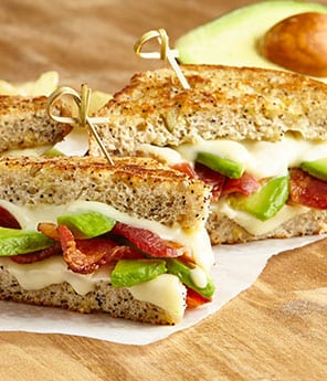 Bacon and Avocado Grilled Cheese