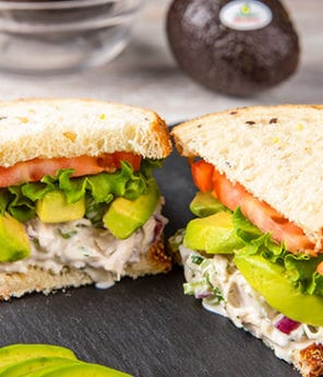 Apple and Avocado Chicken Salad Sandwich