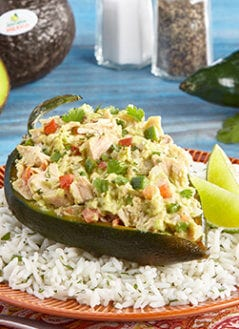 Peppers Stuffed with Tuna with Avocado