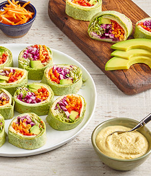 AVOCADO RAINBOW ROLL-UPS
